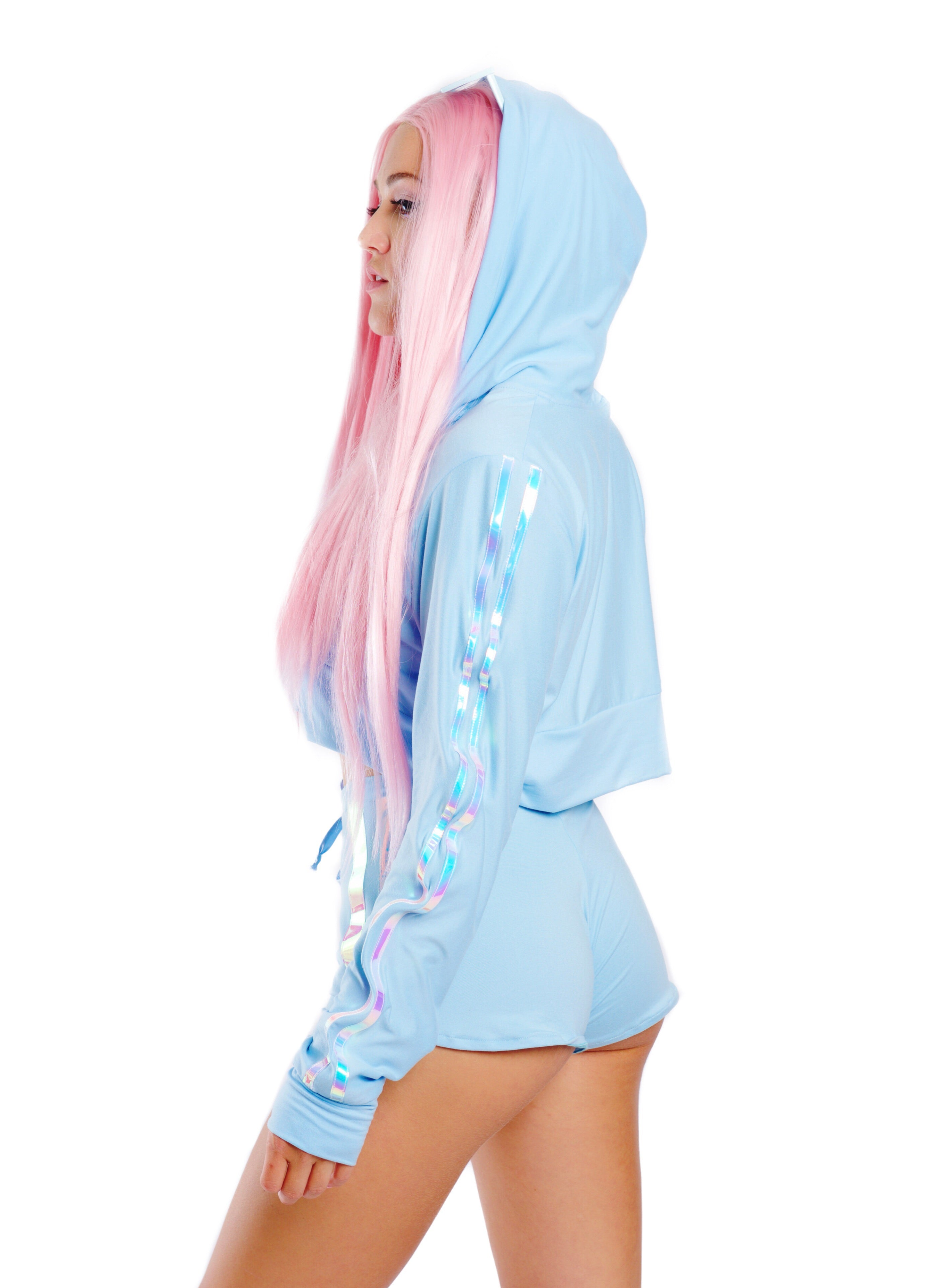 Iridecent Light Blue Hoodie