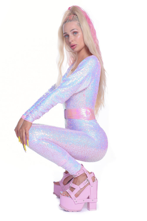 Light Pink Iridecent Jumpsuit