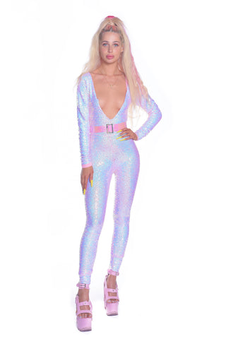 Lilac Alligator Onesie