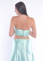 Mint Silky Long Skirt