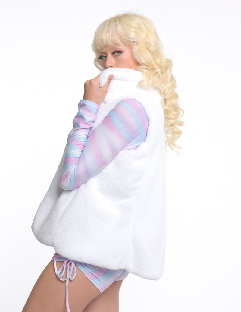 Casually Cute Long Sleeve Pastel Holo Top