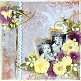 Trina McClune Designs uses Blue Fern Studios for her April kit