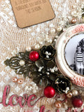 Mixed media christmas decoration for you to make