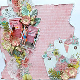 Jan 2018 Kit - Celebrate with Mintay - 2 single 12x12 layouts and a bonus card