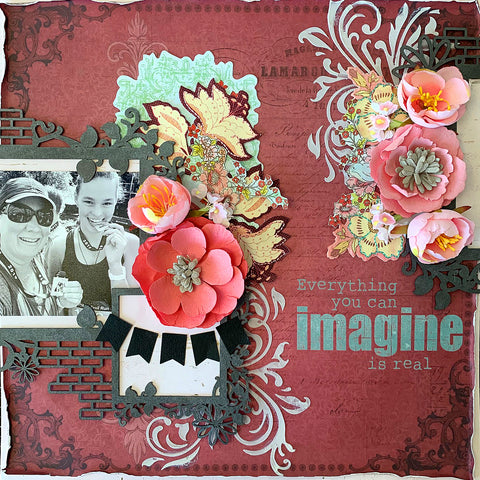 TMD scrapbook layout kit - how to use old product beautifully