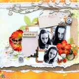 Note scrapbook layout from Trina McClune's May layout kit