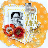 In my happy place scrapbook layout from TMD May kit