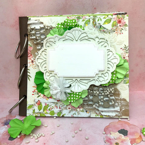 "DIY 6x6"" mini album made using TMD's album kit"