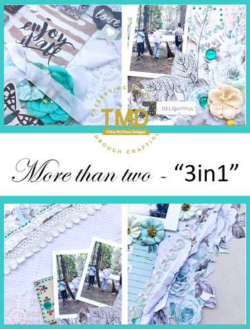 """More than two"" complete scrapbook kit"