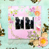 Single page scrapbook kit with never ending card