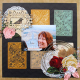 Red Roses - a beautiful scrapbook kit for two single pages.