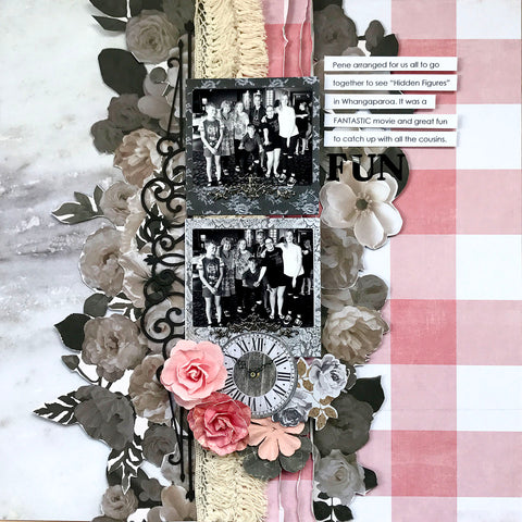 layout from TMDs scrapbook page kit designed by scrapbook tutor Trina McClune