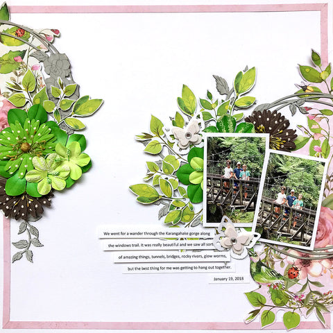 Scrapbook layout from TMDs complete scrapbook kit