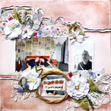 Create lovely scrapbook pages using TMD's layout kit