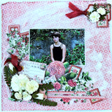 Scrapbook layout kit for 2 single layouts