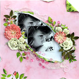 Two layout scrapbook kit featuring funky holes