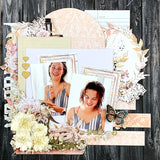 "Smile ... Love ... March 2019 TMD scrapbook layout kit - two 12x12"" layouts"
