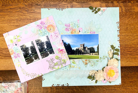 Add a neverending card to your layout with TMD's scrapbook kit