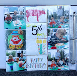 "DIY birthday page from TMD's ""Keeping it simple"" scrapbook kit"