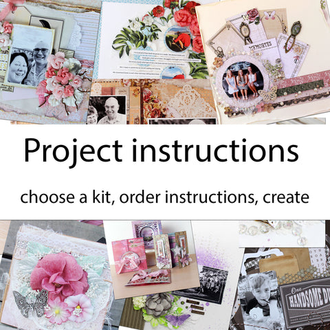 Instructions for any of TMDs scrapbook kits