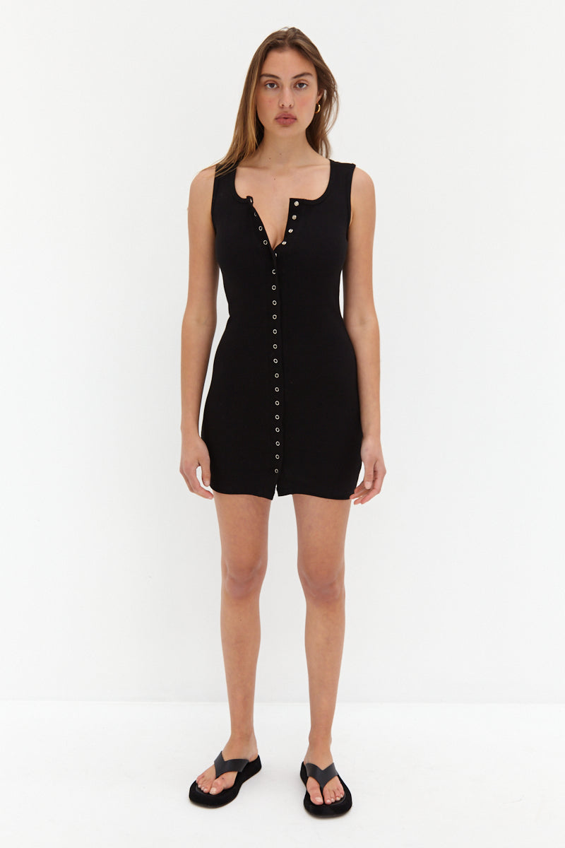 Ava Mini Dress - Black