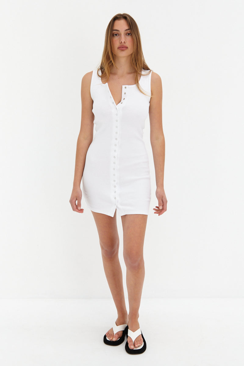 Ava Mini Dress - White