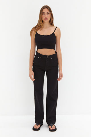 Knit Tube Top - Black