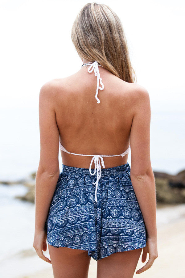 Maui Crochet Crop - White - Style Addict