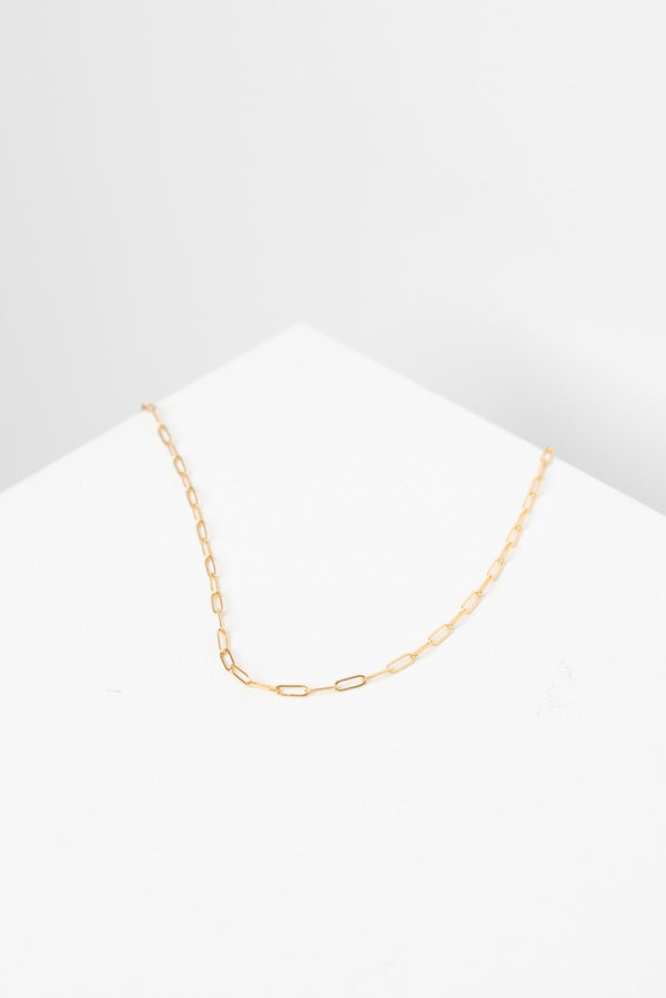 Fine Wide Link Chain Necklace - Gold Plated