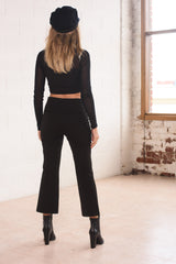 Tabitha Mesh Crop - Black