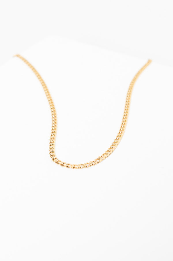 5mm Classic Chain Necklace - Gold Plated