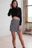 Empire Wrap Skirt - Gingham