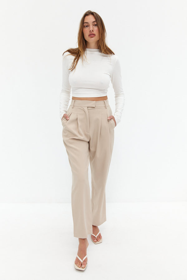 Charlie Trouser Pants - Nude