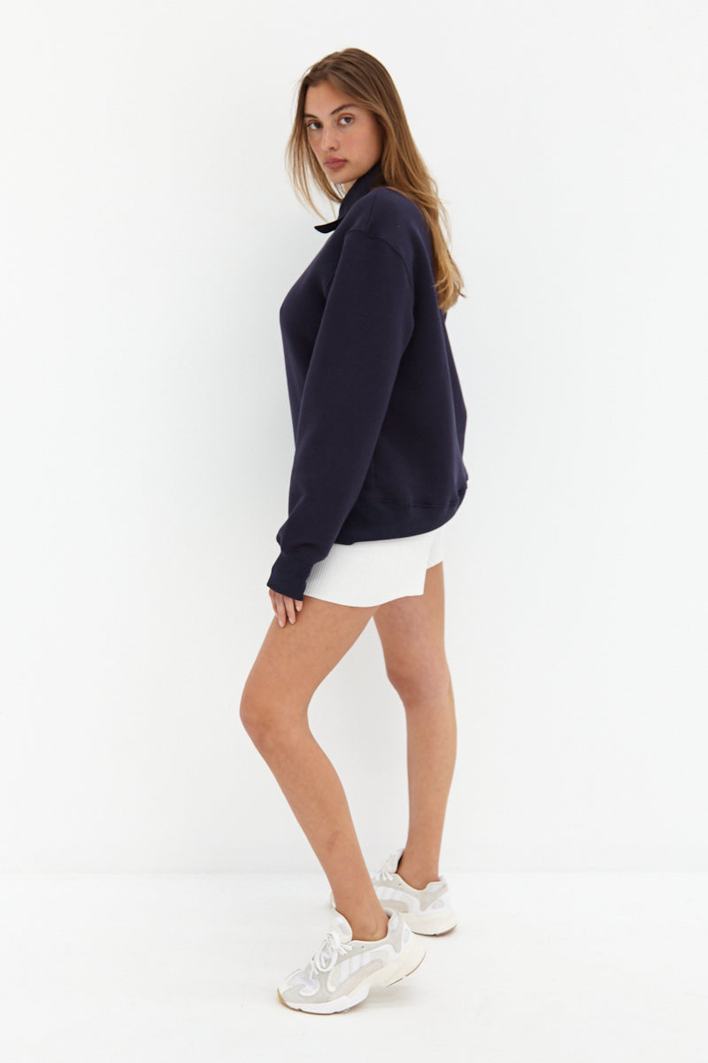 Half Zip Sweater - Navy