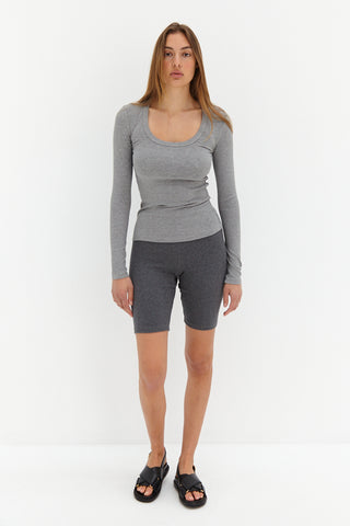 Knit Cycle Shorts - Grey