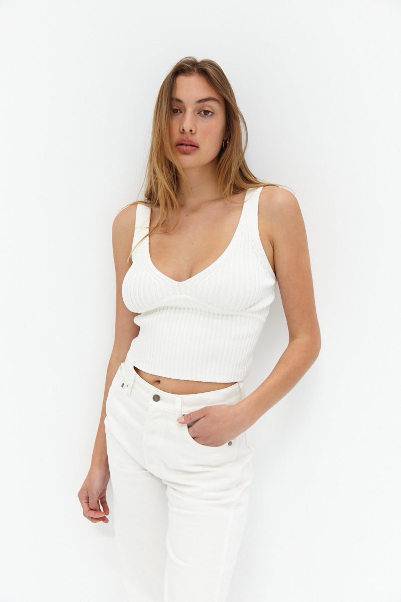 Knit Top - White