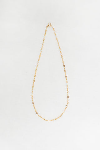 7.5mm Classic Chain Necklace - Gold Plated