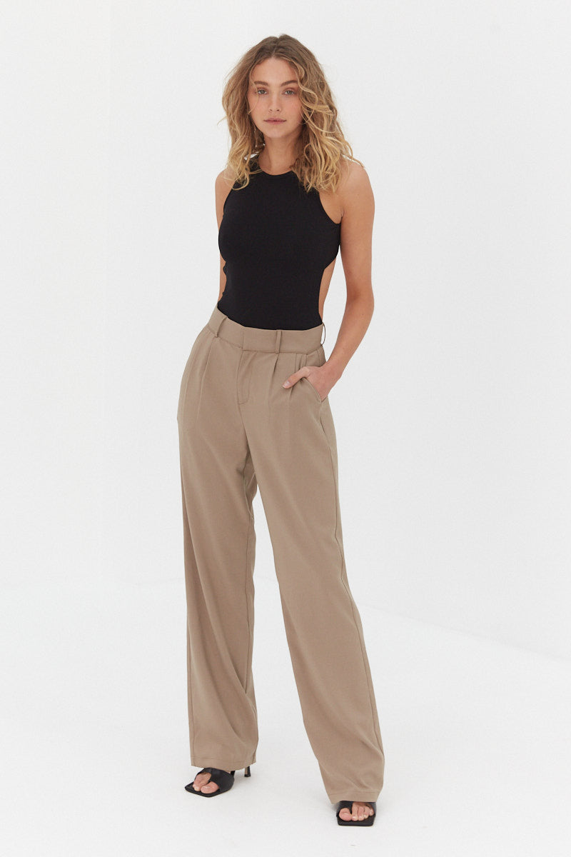 Malene Pants - Dark Tan