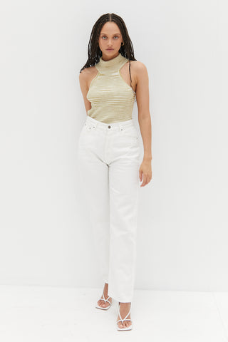 Knit Tube Top - White