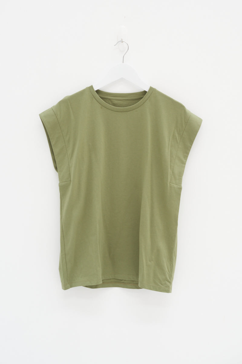 OVERSIZED TANK - KHAKI / SAMPLE