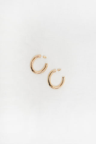 Rope Hoop Earrings - Gold Plated