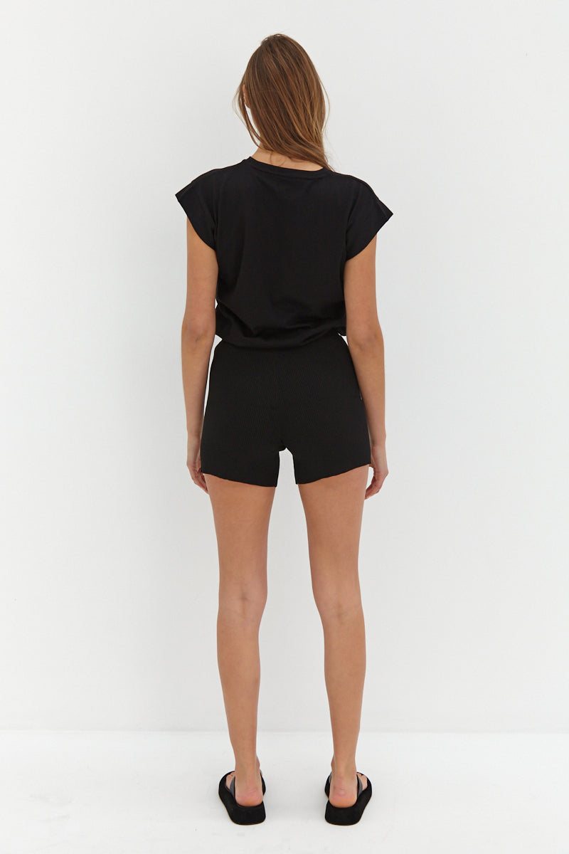 Knit Shorts - Black