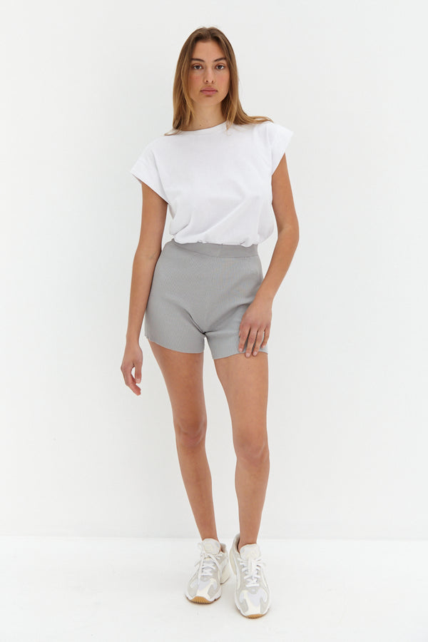 Knit Shorts - Grey