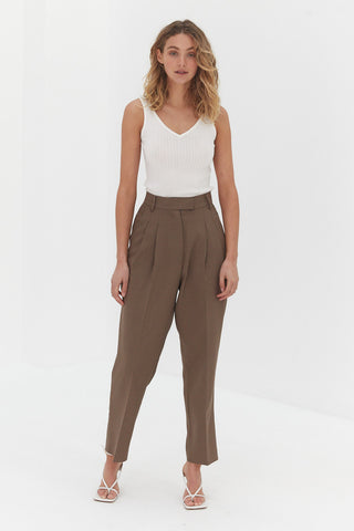 October Short Sleeve Bodysuit - Taupe