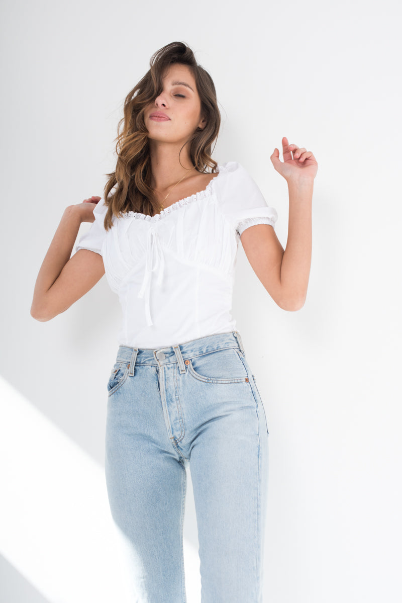 Chantilly Top - White - Style Addict