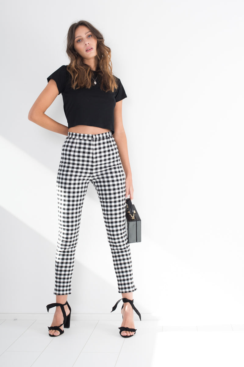 Louie Pants - Gingham - Style Addict