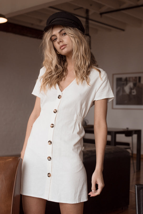 Olivia Dress - White - Style Addict