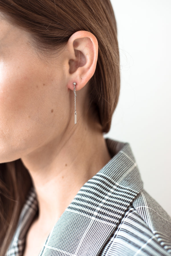 Sienna Earrings - Silver - Style Addict