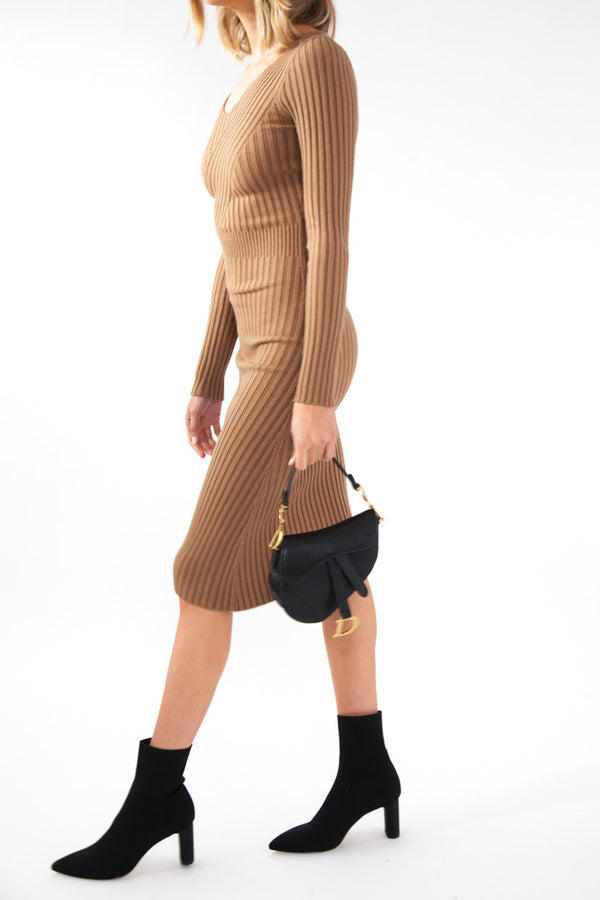 Mimi Knit Dress - Rust