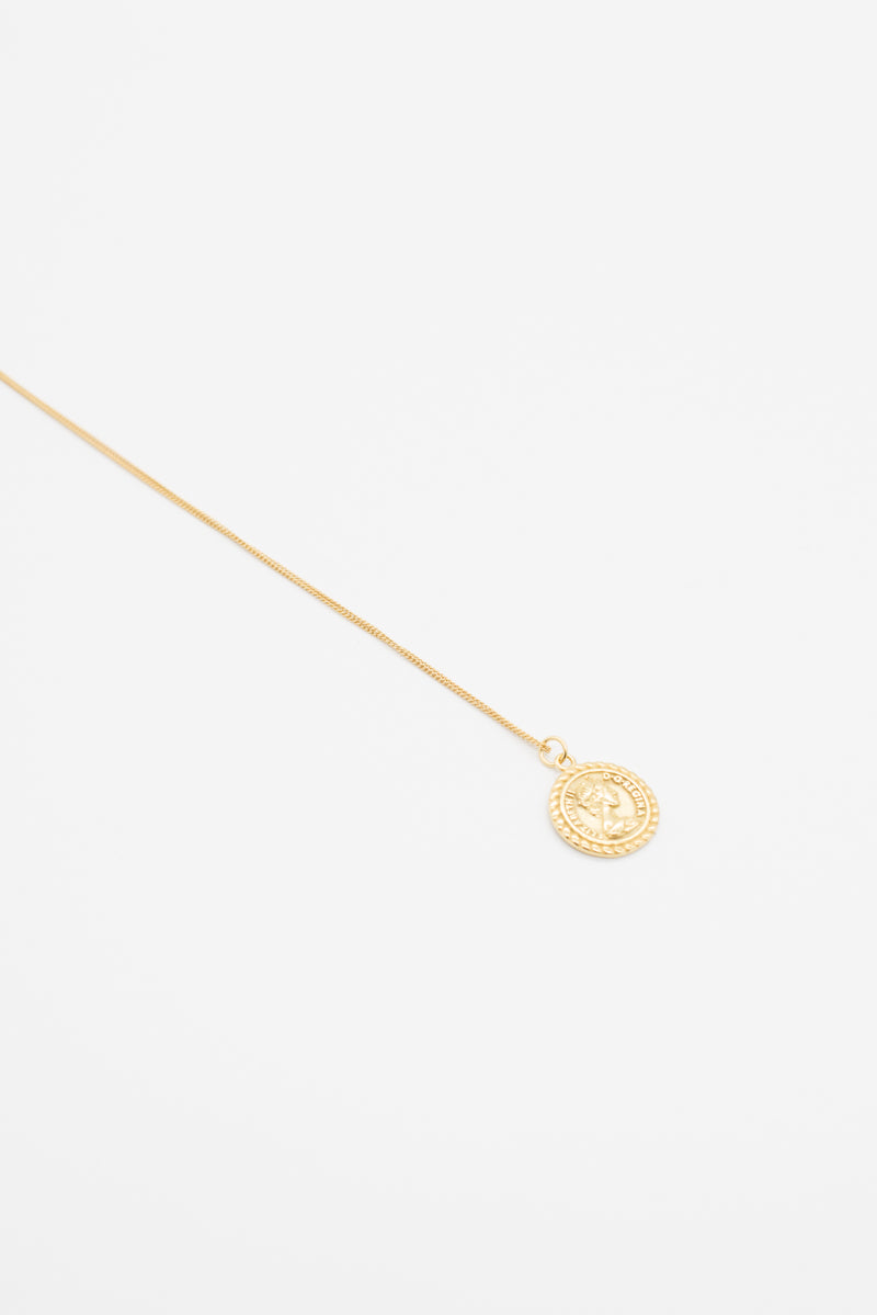 Roman Coin Necklace - 14K Gold - Style Addict
